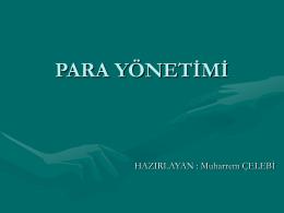 PARA YÖNETİMİ - kouegitim2009