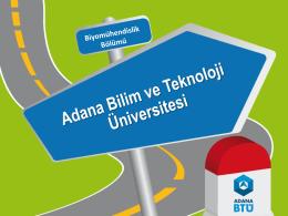 www.adanabtu.edu.tr - Biyomühendislik