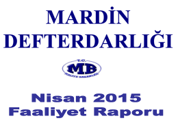 Faaliyet Raporu 2015