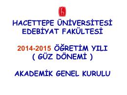 Akademik Kurul - Edebiyat Fakültesi