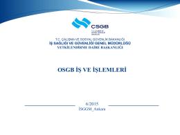 OSGB-İş-ve-İşlemleri - Çalışma ve Sosyal Güvenlik Bakanlığı