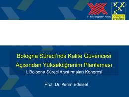 buraya - Hacettepe Üniversitesi I.Bologna Süreci Araştırmaları