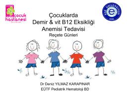 Çocukta anemi tedavisi – Prof. Dr. Deniz YILMAZ KARAPINAR