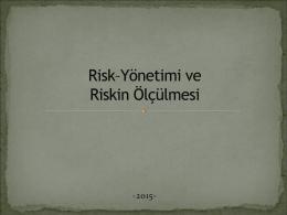 5. Risk - Yönetimi ve Ölçülmesi