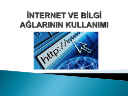 İnternet - Personel Web Sistemi
