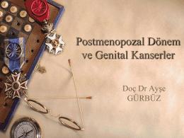 Genital Kanserler - Doç. Dr. Ayşe GÜRBÜZ
