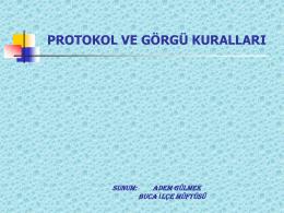 protokol ve görgü kuralları