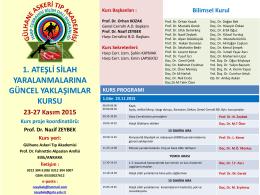 Prof. Dr. Nazif ZEYBEK Kurs yeri