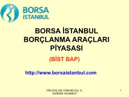 borsa istanbul borçlanma araçları piyasası