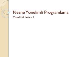 Visual C#1