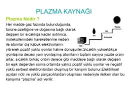 Plazma Nedir - TeknikBelgeler.com