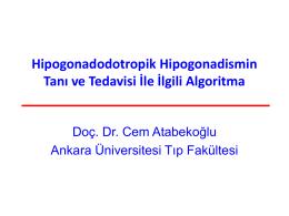 Hipogonadodotropik Hipogonadismin Tanı Ve Tedavisi Ile Ilgili