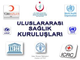 Uluslararası Sağlık Kuruluşları