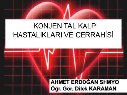 CER113 Konjenital Kalp Hastalıkları ve Cerrahisi