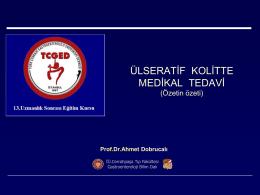 ülseratif kolit tedavisi - Prof. Dr Ahmet DOBRUCALI