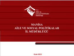 Oda Sayısı - Manisa Aile ve Sosyal Politikalar İl Müdürlüğü