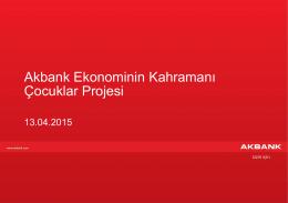 Akbank Kurumsal Sunum Formatı - Klasik Örnek Slaytlar (yeni)