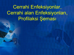 2015 Cerrahi enfeksiyonlar, cerrahi alan