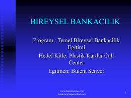 Bireysel Bankacılık