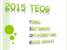 TEOG 2015 Tanıtım