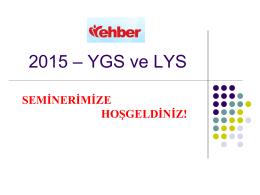2015 YGS-LYS Sunusu