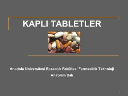 KAPLI TABLETLER - Anadolu Üniversitesi