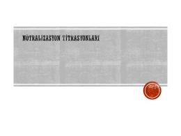 Nötralizasyon-titrasyonları