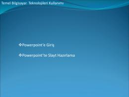 Powerpoint Sunum Hazırlama