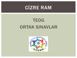 teog ortak sınavlar - Cizre Rehberlik ve Araştırma Merkezi