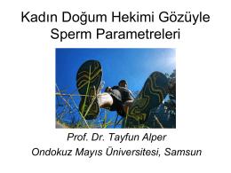 Kadın Doğum Hekimi Gözüyle Sperm Parametreleri