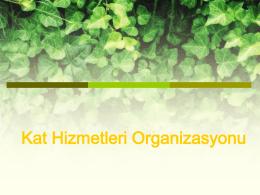 Kat Hizmetleri Organizasyonu