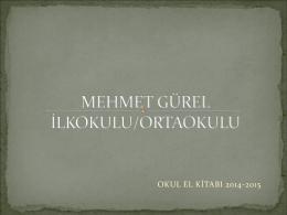 Okul El Kitabı - Mehmet Gürel İlkokulu