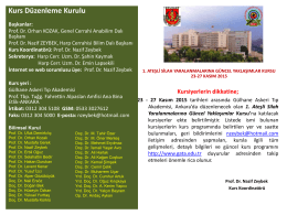 Kurs Koordinatörü - Gülhane Askeri Tıp Akademisi