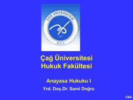 anayasa_bes - Çağ Üniversitesi