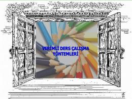 verimli ders calisma 2015 yeşilbahar 7. sınıf