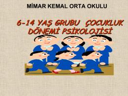 6-14 Yaş Çocukluk Dönemi Psikolojisi