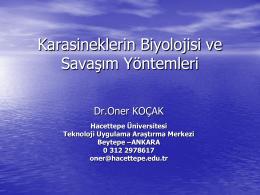 Karasineklerin Biyolojisi ve Savaşım Yöntemleri, Dr. Öner KOÇAK