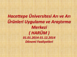 Türkiye Arıcılığının Dünü , Bugünü ve Yarını içinde