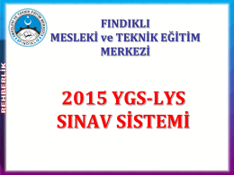 2015 sınav sistemi sunusu