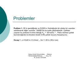 Problemler - Dokuz Eylül Üniversitesi