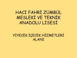 bölüm tanıtımı gösterisi - TEKİRDAĞ / ÇERKEZKÖY / Hacı Fahri