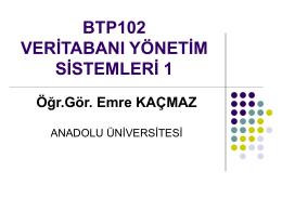 BTP102 - Anadolu Üniversitesi