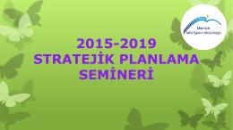 stratejik plan eğitim sunusu 1
