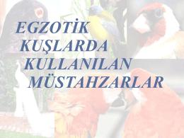 egzotik kuşlarda kullanılan m