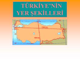 Türkiye`nin yer şekilleri