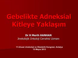 Merih Hanhan - Türk Jinekoloji ve Obstetrik Derneği