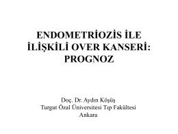 endometriozis ile ilişkili over kanseri