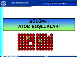 atom boşlukları