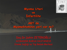 Myoma Uteri ve İnfertilite