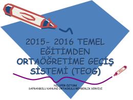 2015-2016 TEOG